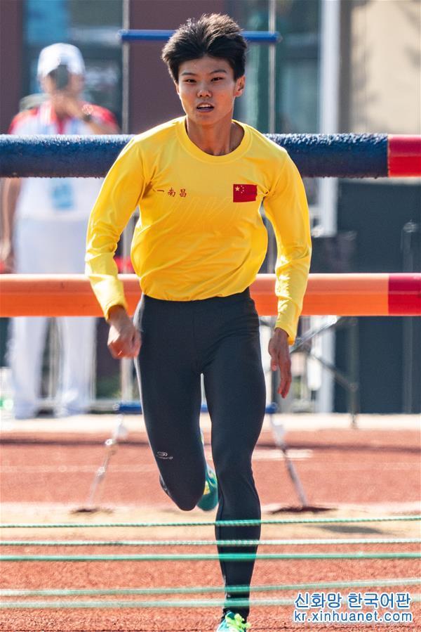 (軍運會)(1)軍事五項——女子個人全能障礙跑:盧嬪嬪打破世界紀錄
