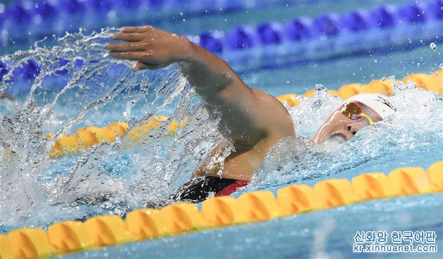 (軍運會)(7)遊泳——女子800米自由泳:中國隊包攬冠亞軍