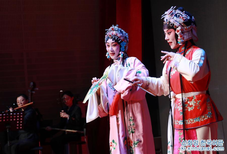 (國際·圖文互動)(1)上海昆劇團在布魯塞爾出演《牡丹亭》受歡迎