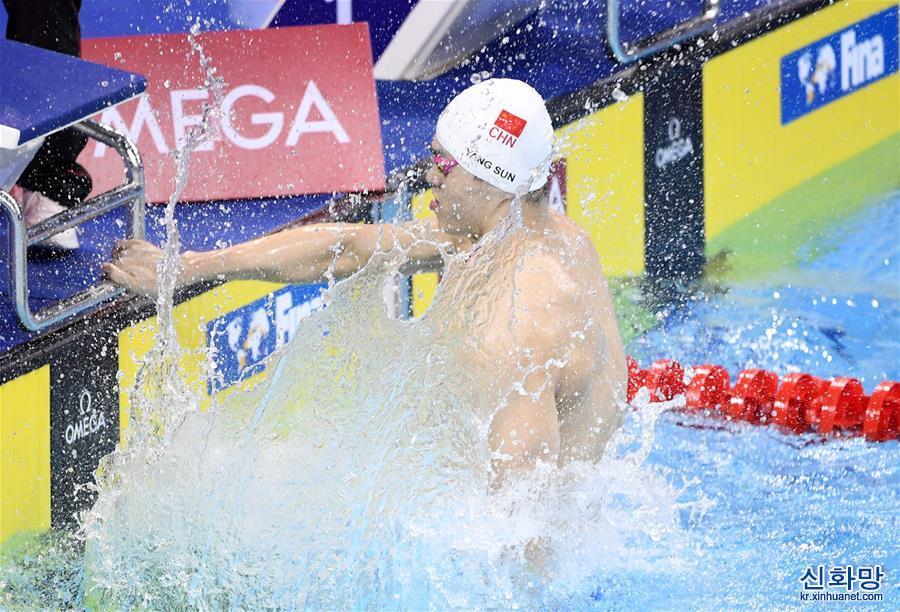 (體育)(3)遊泳——FINA冠軍係列賽:孫楊獲男子400米自由泳冠軍