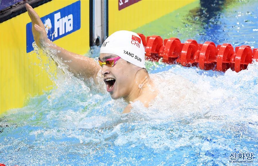 (體育)(2)遊泳——FINA冠軍係列賽:孫楊獲男子400米自由泳冠軍