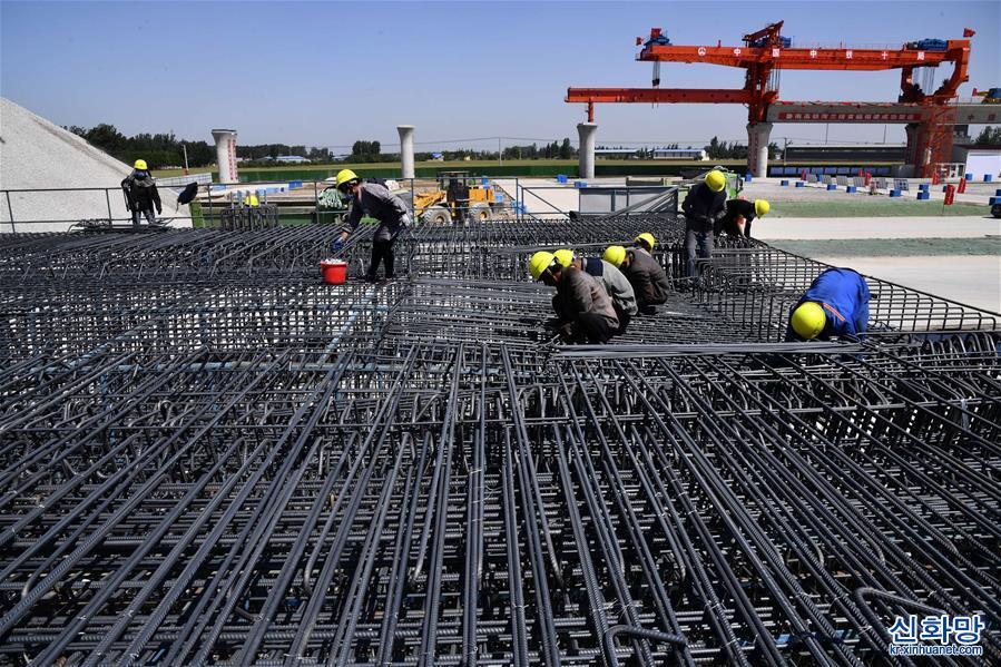 (經濟)(1)魯南高鐵復工復産建設忙