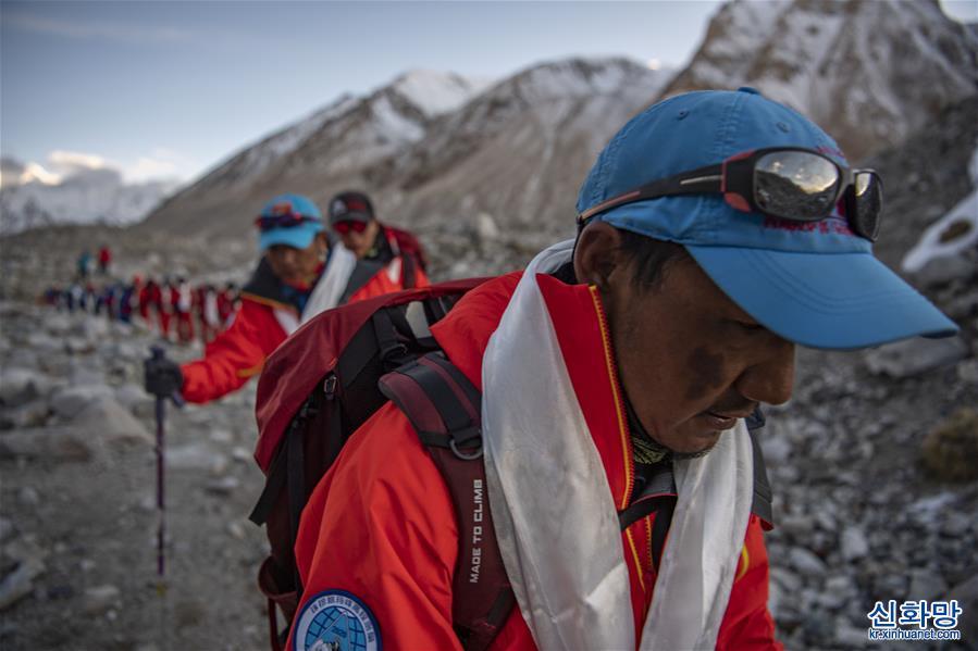 (2020珠峰高程測量)(1)2020珠峰高程測量登山隊全體隊員安全返回大本營