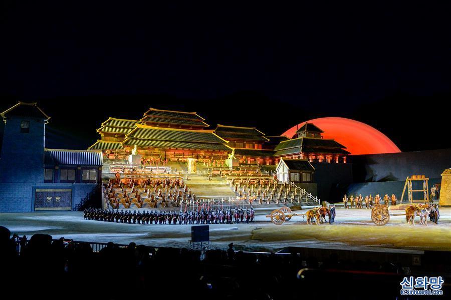 (社會)(1)大型實景神話音樂劇《昆侖之約》在烏魯木齊上演