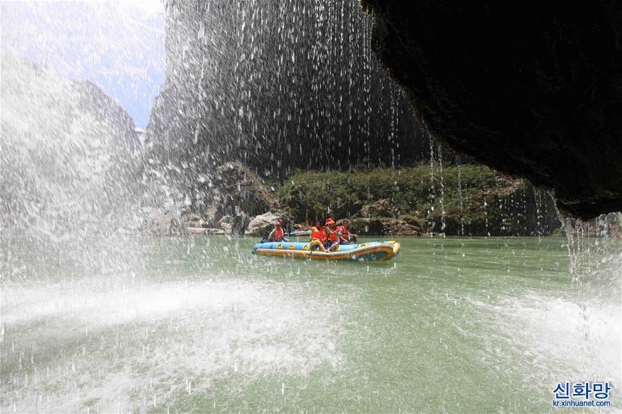 #(社會)(1)湖南張家界: 漂流享清涼
