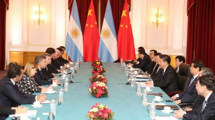 시진핑 주석, 마크리 아르헨티나 대통령 회견