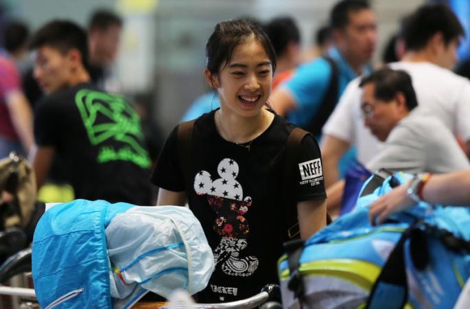 중국 베드민턴선수단 합동훈련 후 베이징으로…에이스 선수 첸롱(諶龍)자신만만