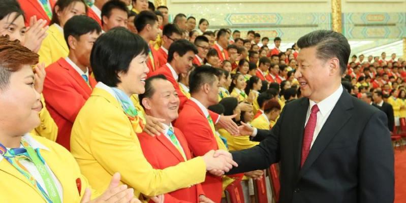 시진핑 주석등, 제31회 올림픽 중국 선수단 회견