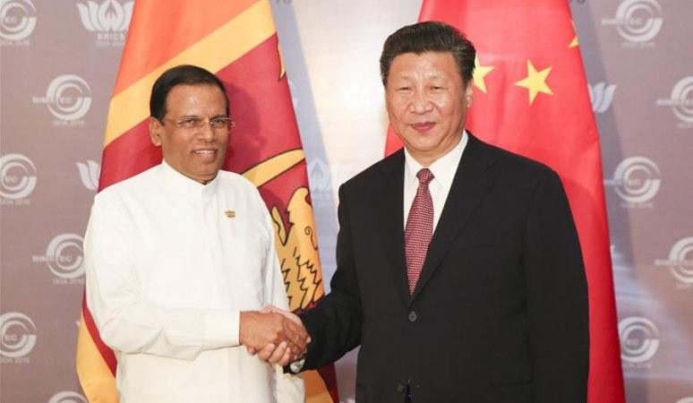 시진핑 주석, 마이트리팔라 시리세나 스리랑카 대통령 회견