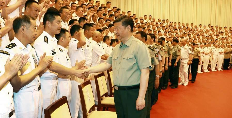 시진핑 주석, 해군 기관 시찰   (상세)