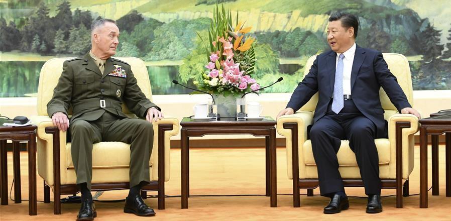 시진핑 주석, 조지프 던퍼드 미국 합참의장 회견
