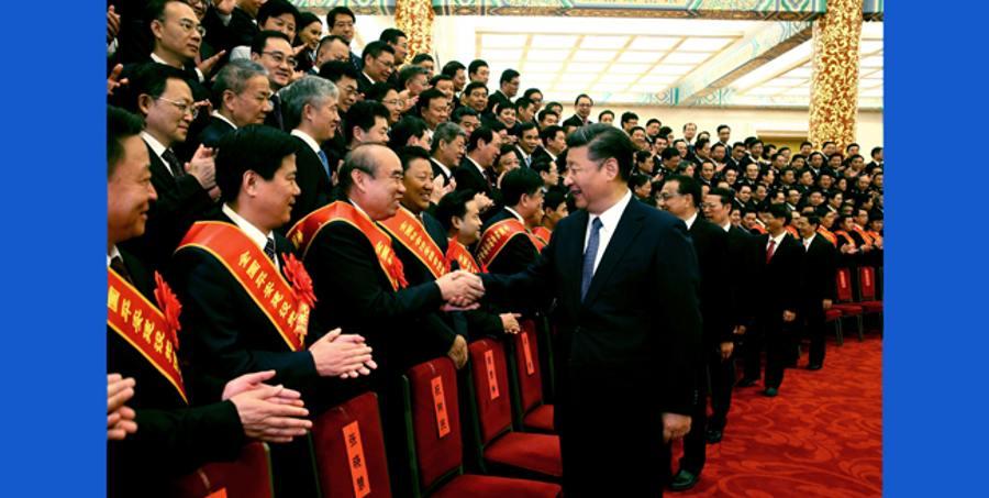 시진핑 주석, 전국사회치안종합관리 표창대회 대표 접견