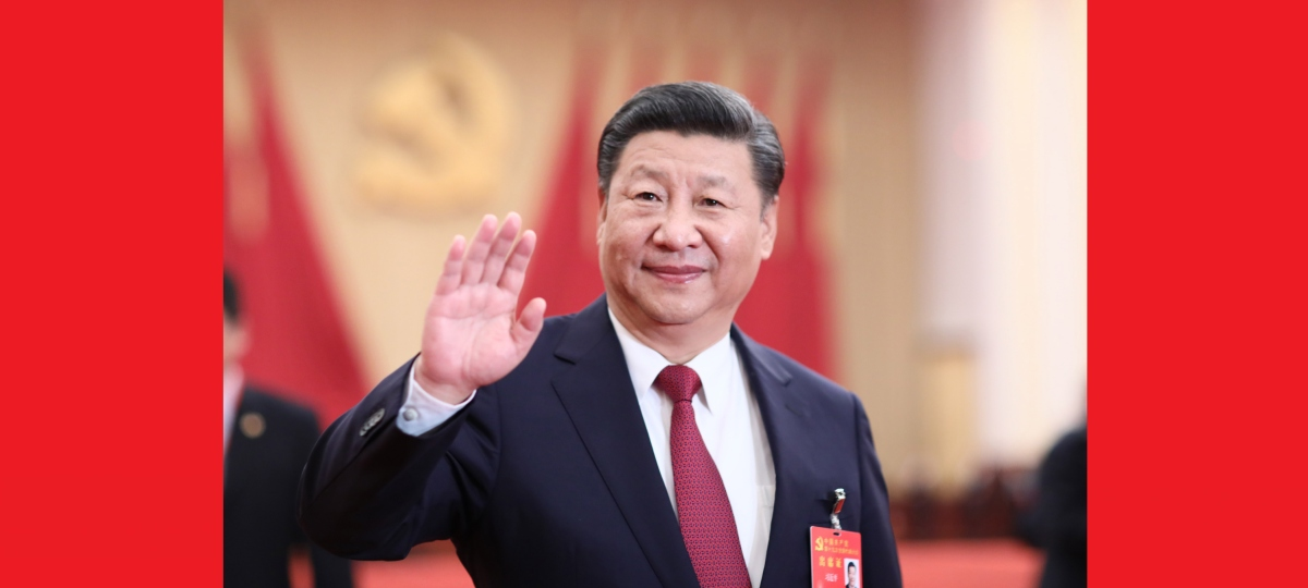시진핑 등 지도자들 19차 당대회 참석한 대표, 특별 초청 대표 및 열석자 친절히 회견