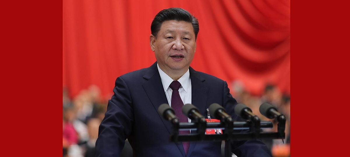 시진핑, 중국공산당 제19차 전국대표대회서 보고 발표