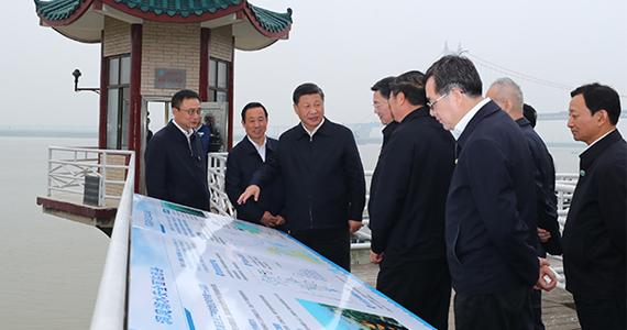 시진핑, 청링지 수문관측소 시찰