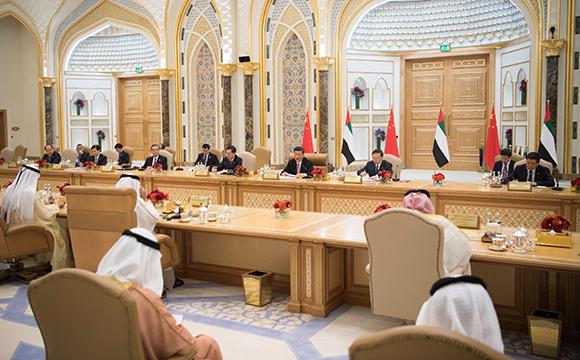 시진핑 中 국가주석, 모하메드 아랍에미리트 부통령 겸 총리 및 모하메드 아부다비 왕세자와 회담