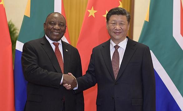 시진핑 中 국가주석, 라마포사 남아공 대통령과 회담