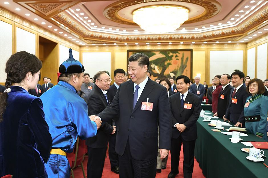 시진핑, 네이멍구 대표단 심의에 참가