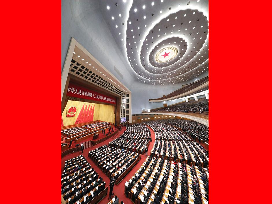 시진핑 등 전인대 2차회의 전체회의에 참석
