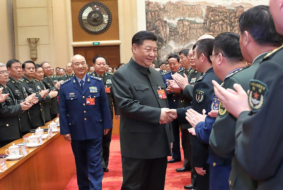 시진핑, 해방군·무장경찰부대 대표단 전체회의 참석