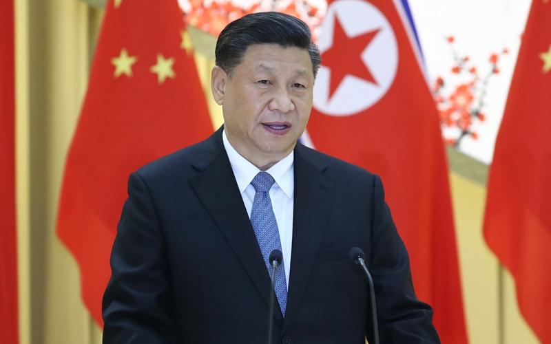 시진핑 주석, 김정은 조선로동당 위원장, 국무위원회 위원장이 마련한 환영연회 참석