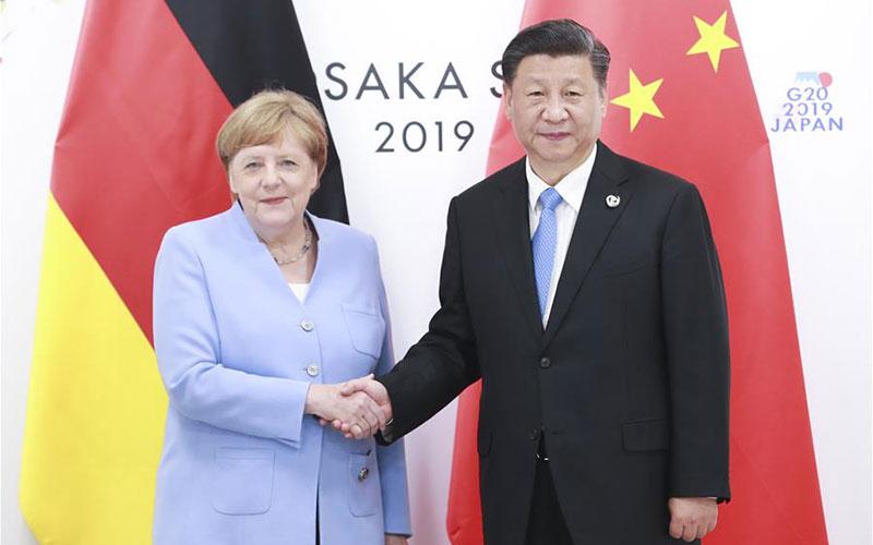 시진핑 中 국가주석, 메르켈 獨 총리 회견