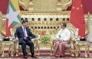시진핑 中 국가주석, 윈 민 미얀마 대통령과 회담