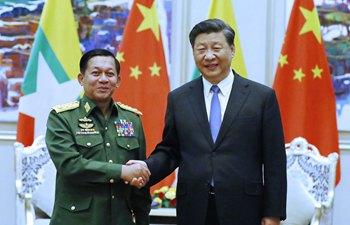 시진핑 中 국가주석, 민 아웅 흘라잉 미얀마 국방군 총사령관 회견