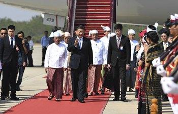 시진핑 中 국가주석, 네피도에 도착해 미얀마연방공화국에 대한 국빈방문 시작