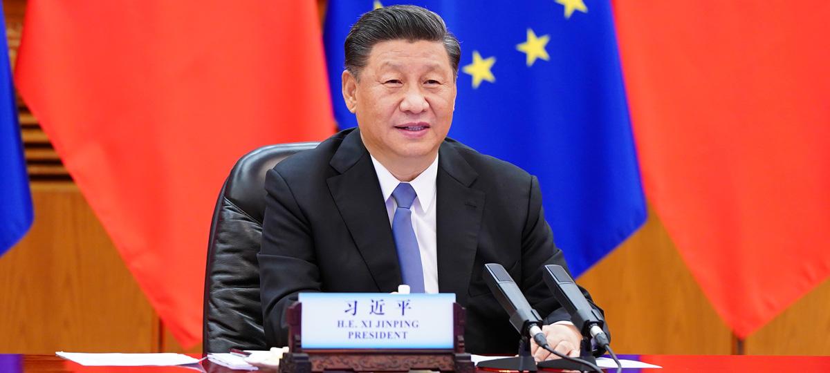 시진핑 中 국가주석, 미셸 EU정상회의 상임의장과 폰데어라이언 EU집행위원장 회견