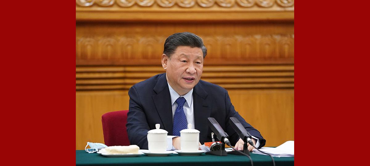 시진핑, 칭하이 대표단 심의에 참석