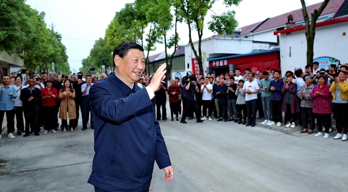 시진핑 총서기, 난양시 시촨현 남수북조 프로젝트 시찰