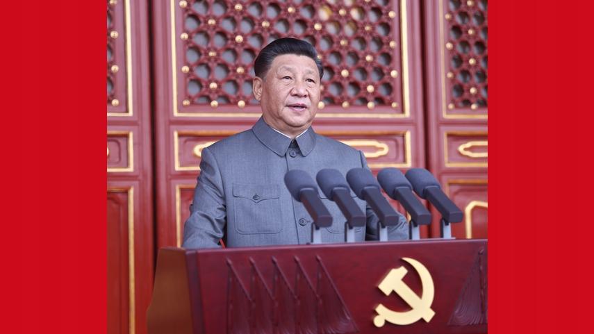 중국공산당 창당 100주년 경축대회 톈안먼광장서 성대히 거행