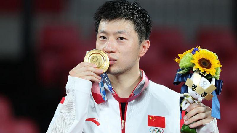 中 마룽, 탁구 남자 단식 금메달