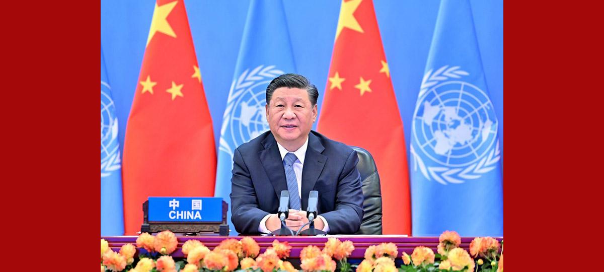시진핑 주석, 제2회 유엔 글로벌 지속가능 교통회의 개막식에 참석해 기조 연설 발표