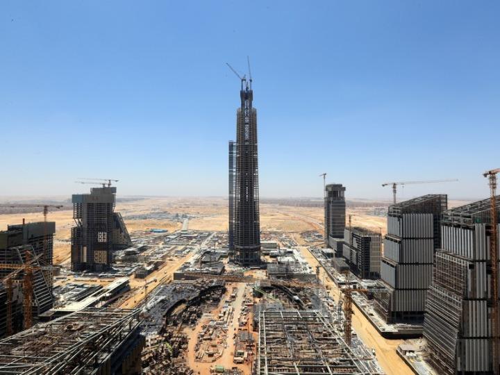 中이 건설한 아프리카 최고층 빌딩 상량식 열려