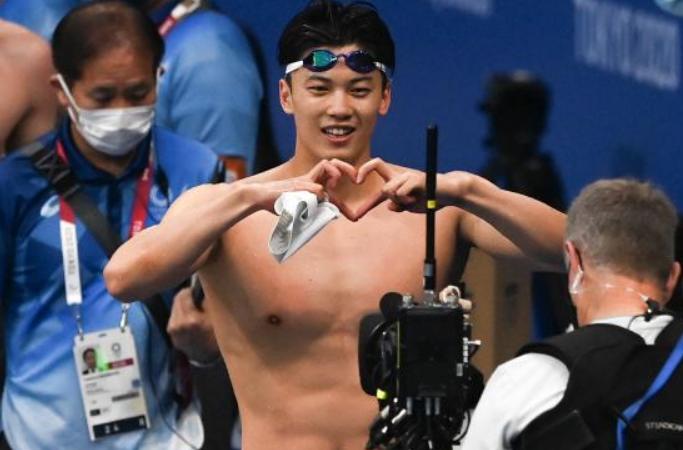 수영——男 개인혼영 200m: 왕순 금메달