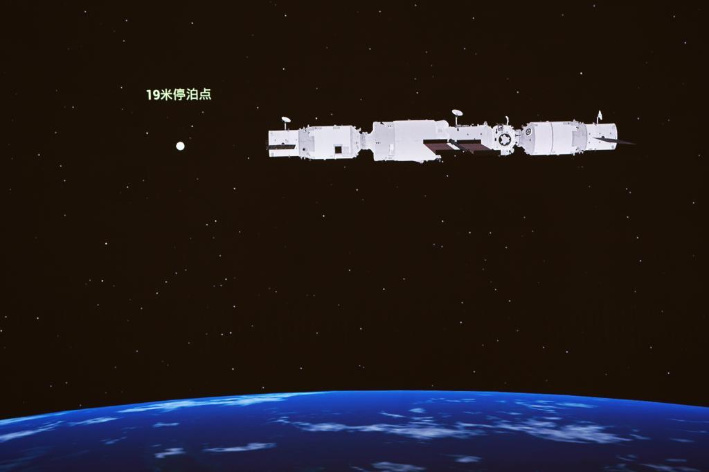 中 화물우주선 톈저우 3호, 우주 정거장 조립체와 도킹 성공