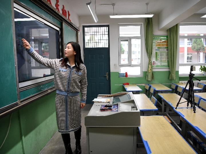 中 닝샤 일부 초·중·고교, 온라인 수업으로 전환