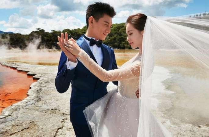 우치룽(吳奇隆), 류스스(劉詩詩) 뉴질랜드서의 웨딩사진 공개