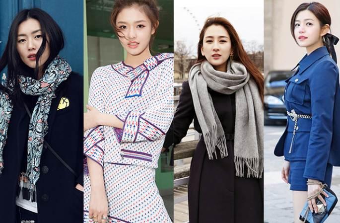 중국 여배우, 프랑스 패션위크서 국제적 패션 센스 뽐내