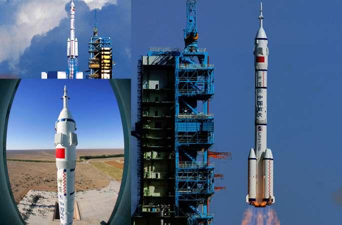 카메라로 기록한 中선저우 우주선 발사 순간들