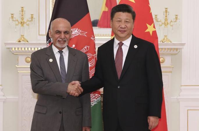 시진핑 주석, 가니 아프간 대통령 면담