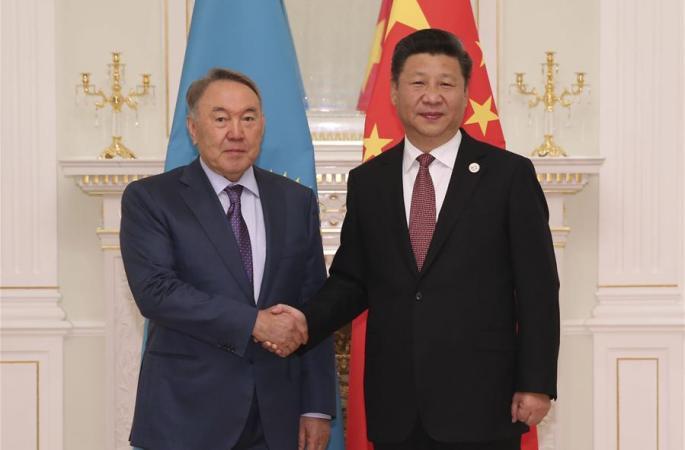 시진핑 주석, 카자흐스탄 대통령과 면담