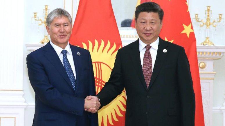 시진핑 주석, 아탐바예프 키르기스스탄 대통령 면담