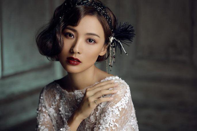 정뤄첸의 복고풍 스타일, 우아&매혹적인 매력 넘쳐