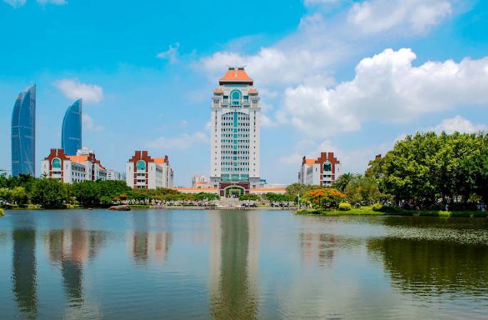 '중국에서 가장 아름다운 대학교', 샤먼대학의 여름 경치