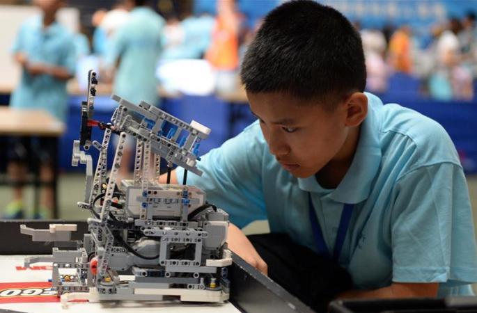 스마트로봇 경진대회가 한창인 하얼빈