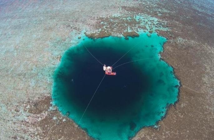 中 산사에서 세계 최고 깊이 블루홀 발견, '융러 룽둥'으로 명명