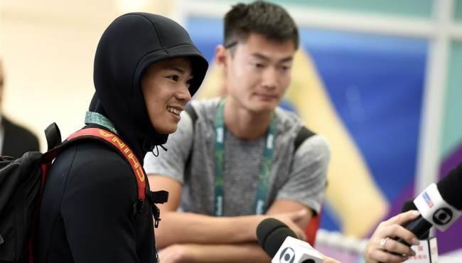 [리우올림픽]중국 육상 선수단 리우 도착